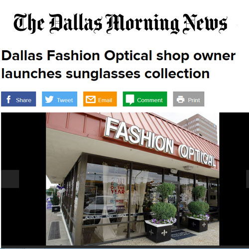 Dallas Morning News article about Fashion Optical