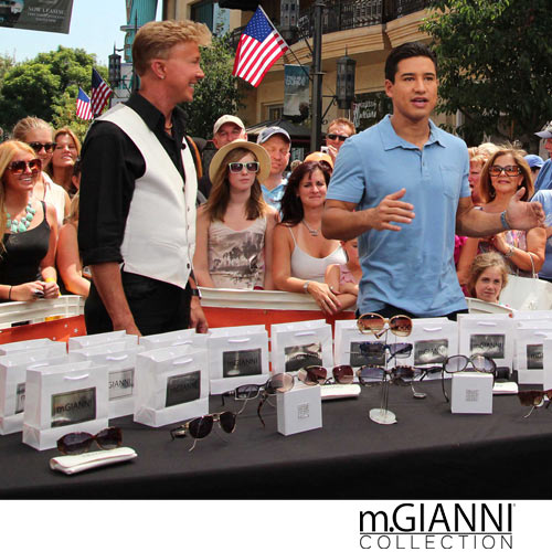 Morgan GIANNI, Designer of m.GIANNI Collection had the privilege to be apart of the extraTV show, Morgan introduces the m.GIANNI collection line to Mario Lopez and the WORLD!